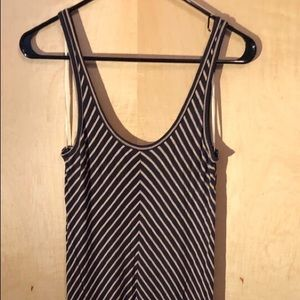 Bella Luxx striped navy maxi dress